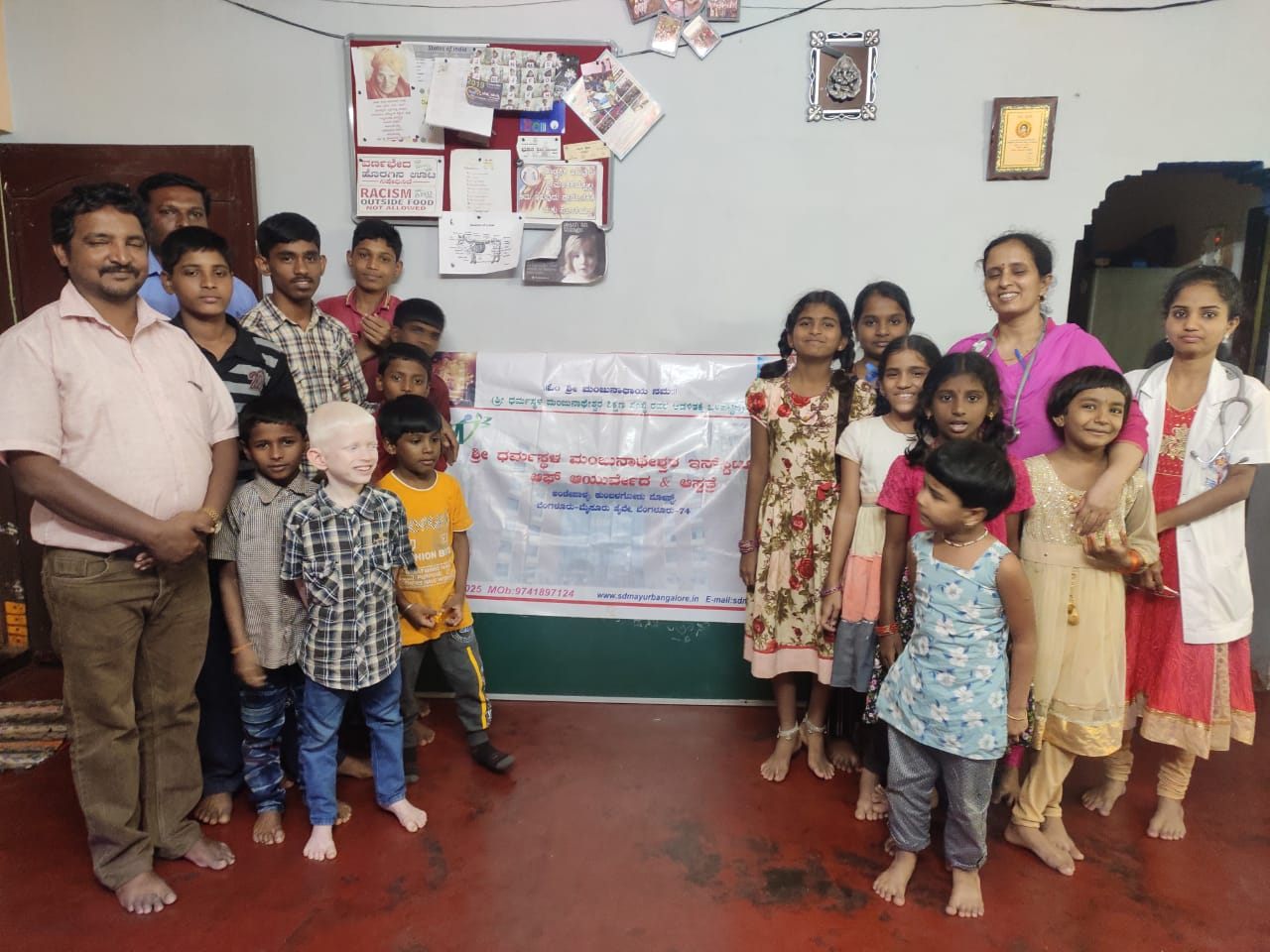 Health check-up for children at orphanage